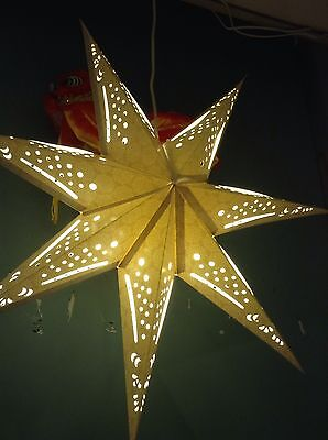 Star Shaped LAMP IKEA 70cm In A Flower Pattern Beige Taupe Luminaire • 34.99£