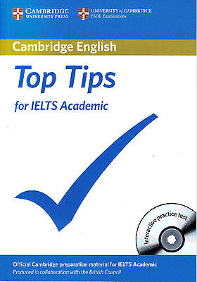 TOP TIPS For IELTS Academic W CD-ROM By Cambridge ESOL With BRITISH COUNCIL @NEW • 12.95£