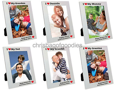 PERSONALISED I HEART MY 5 X 7 PHOTO Picture FRAME Love Best Gifts Ideas HIM HER  • 16.50£