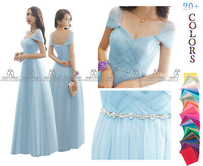 £39.99 • Buy New Straps Design Floor Length Lace Back Bridesmaid Wedding  Party Prom Dress