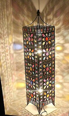 Moroccan Floor Lamp Large Spike Flower Colourful Jewels Cutout Exclusive Design • 145£
