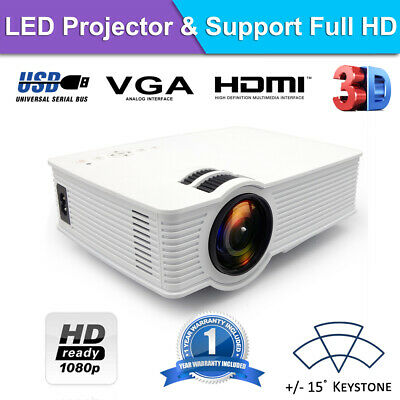 AU105 • Buy Portable 1080P 7000 Lumens HD LED Multimedia Projector Home Cinema Theater HDMI