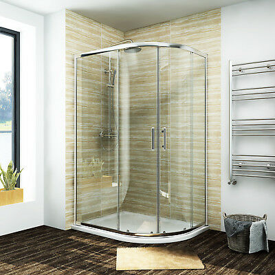 Quadrant Glass Shower Enclosure Corner Cubicle 6mm Tempered/Easy Clean Glass • 96.99£