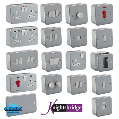 Metal Clad Electrical Fittings Switches And Sockets Workshop Garage Industrial  • 6.10£
