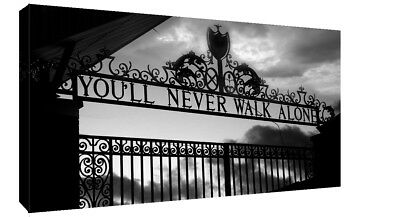 £16.49 • Buy Liverpool You'll Never Walk Alone CANVAS WALL ART Picture Print Black And White