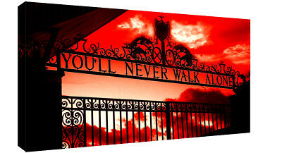 £16.49 • Buy Liverpool You'll Never Walk Alone CANVAS WALL ART Picture Print Red