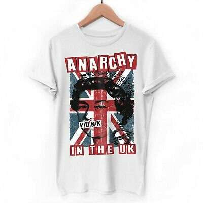 £13.95 • Buy Anarchy In The UK Organic Punk TShirt Sex Pistols Tee Rock Festival Clothing Top