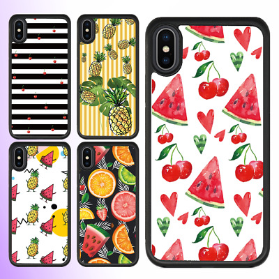 AU11.99 • Buy  IPhone 12 Pro Max 11 SE 2020 XS X Plus Case Cute Fruit Bumper Shockproof Cover