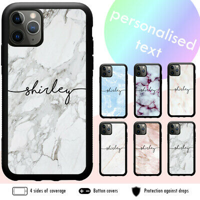 AU9.88 • Buy IPhone 11 Pro Max XS XR X 8 7 6 Plus SE Shockproof Case Marble Personalised Name