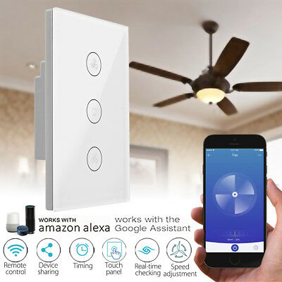 AU27.63 • Buy WIFI  4G Smart Mobile Ceiling Fan Wall Switch Touch Panel For Alexa/Google Home