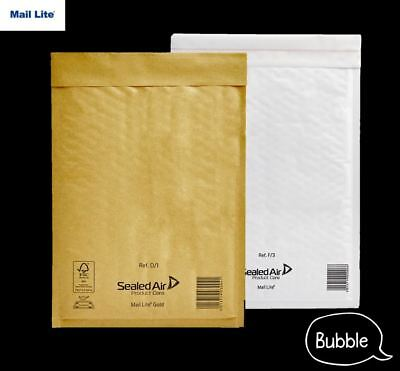 £17.79 • Buy Mail Lite Padded Envelopes Bubble Mailer Bags White Or Gold A000 B00 C0 D1 F3 E2