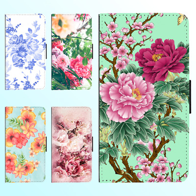 AU13.99 • Buy IPhone 12 Pro Max 11 XS X XR 8 Plus Leather Flip Wallet Shockproof Case Flower I