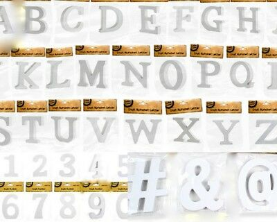 AU4.50 • Buy NEW 10cm Wooden Letter Words MDF Wooden White Letters&Alphabet Craft Home Decor