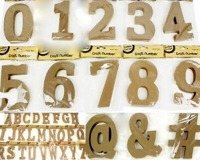 AU4.50 • Buy NEW 15cm Wooden Letter Words MDF Wooden Brown Letters&Alphabet Craft Home Decor