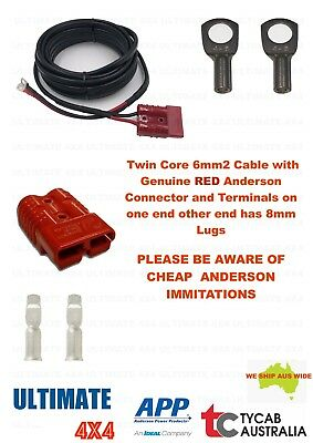 AU44 • Buy 6m Twin Core 6mm2 Cable Genuine RED Anderson 8mm Lug Caravan, Camping, Fridge