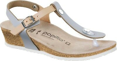 CLEARANCE Papillio By Birkenstock ASHLEY Leather Frosted Metallic Silver BNIB • 62.50£