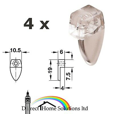 £3.78 • Buy 4 X Frameless Mirror Fixing Clip Wall Hanging Mounting Fitting Transparent Clips