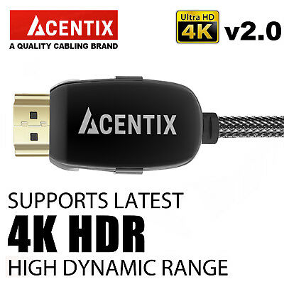 HIGHSPEED ULTRA-HD HDMI CABLE 4K @ 60HZ 2160p AMAZON FIRE SMART TV LED LCD • 59.94£