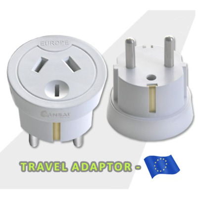 AU21.95 • Buy Travel Adapter Power Socket To Plug Australia AU To Europe/Bali//Tahiti/Noumea