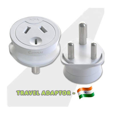 AU21.95 • Buy Travel Adapter Power Adaptor Socket To Plug Australia AU To India/South Africa