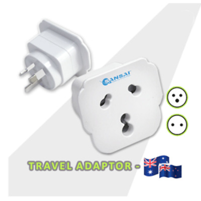 AU21.95 • Buy NEW Travel Adapter Power Adaptor  India/South Africa Socket To Plug Australia/NZ
