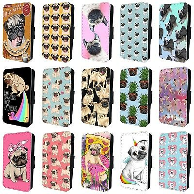 $ CDN15.79 • Buy PUG DOG BREED PUPPY FUNNY PET FLIP PHONE CASE For SAMSUNG GALAXY S5 S6 S7 S8 S9