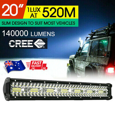 AU38.99 • Buy CREE LED Light Bar 20 Inch Tri-row Spot Flood Combo Driving Offroad Truck 4WD