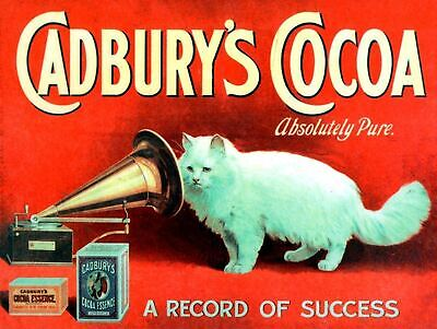 £6.99 • Buy Metal Vintage Retro Cadbury's Cocoa Tin Sign Wall Plaque