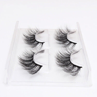 AU1.60 • Buy 2Pairs Faux Mink Natural False Eyelashes Volume Long Eye Lashes Extension Makeup