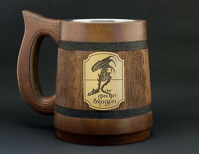 Lord Of The Rings Green Dragon Stein Frodo Baggins Hobbit Mug Middle Earth Gift • 26.51£