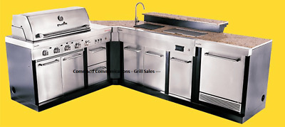 $5286.59 • Buy Ultimate Outdoor Kitchen Bbq Grill-sink-refrigerator- Ice Box-trash Can-corner