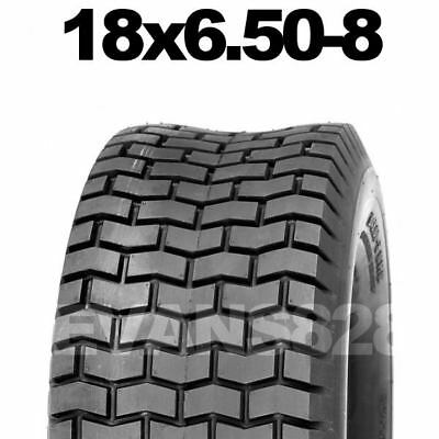18x6.50-8 Ride On Lawn Mower Garden Tractor Turf Tyres Tyre & Tube Sets 18 650 8 • 27.90£