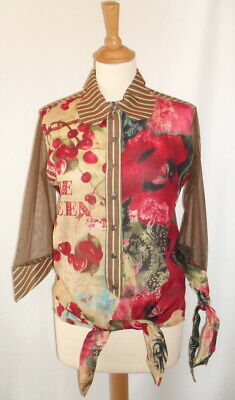 AU53.33 • Buy SAVE THE QUEEN - Blouse Sleeves 3/4 Multicolored & Multi Patterns T M = 38 -