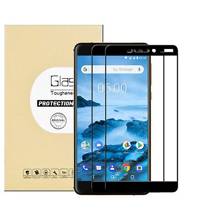 AU4.99 • Buy 9H Full Coverage Tempered Glass Screen Protector For NOKIA 6.1/ 8.1/ 7.1/ 5.1+