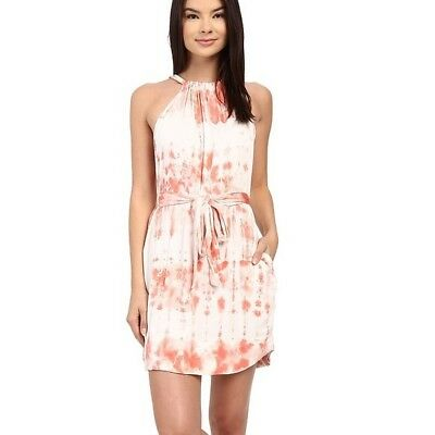$30 • Buy Gypsy05 Revolve Clothing Pink Tie Dye Halter Mini Dress XS