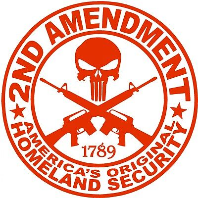 $ CDN4.96 • Buy 2nd Amendment Punisher Sticker - America Bill Of Rights Decals Choose Color Size