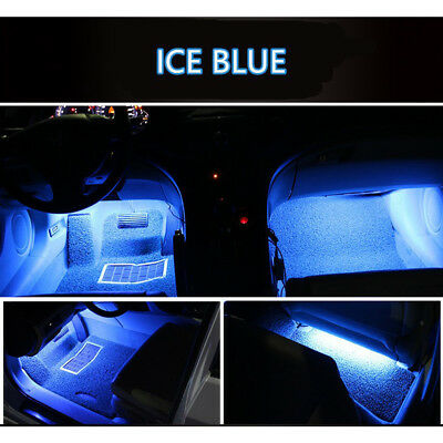$6.99 • Buy 4x Ice Blue Car Accessories Charger Floor Lighter Lamp Switch Interior Universal