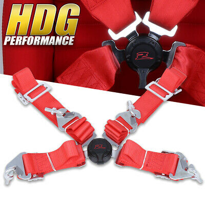 $ CDN36.13 • Buy Upgrade 4 Point Red Safety Seat Belt Harness Camlock Center Universal Mounting