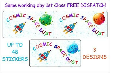 £1.99 • Buy COSMIC SPACE DUST, Bath Bomb Stickers Labels  Fun Novelty Gift Seal CS 1-3