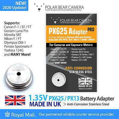 £10 • Buy PX625 MR-9 1.35V Battery Converter Adapter ONLY (Replace Wein Cell) *MADE IN UK*