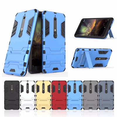 AU6.95 • Buy Dual Layer Tough Stand Phone Case Cover F NOKIA 6 & 6.1 2018/ 7 Plus / 8 Sirocco