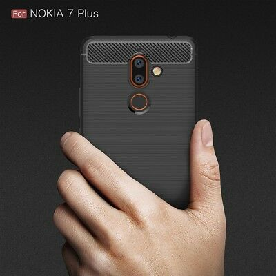 AU9.99 • Buy For NOKIA 7 Plus Shockproof Protective Carbon TPU Back Cover Anti Knock Case