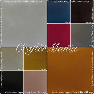 £9.49 • Buy Supreme Quality Soft Plush Velvet Upholstery Curtains Cushions Fabric 17 Colours