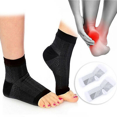 Compression Athletic Socks Foot Sleeve For Ankle Planter Heel Pain Support 1Pair • 4.95£