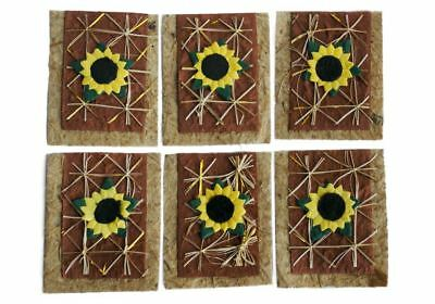 Scrappy Do Sunflower Embellishment Small Natural - Pack Of 18 • 3£