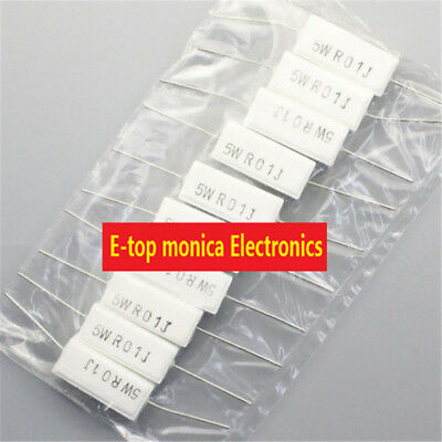 $3.77 • Buy 10pcs Brand New 5% 5w 0.01 Ohm 0.01RJ Cement Resistor Flame Resistance