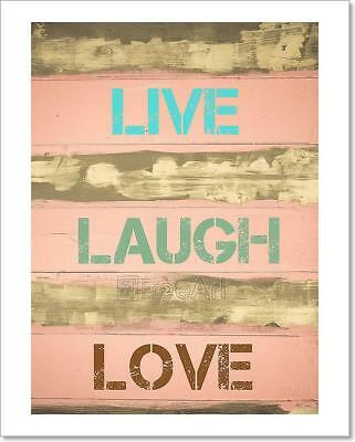 Live Laugh Love Motivational Quote Art Print Home Decor Wall Art Poster - E • 33.30£
