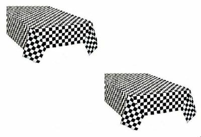 $6.49 • Buy 2pk Plastic Black & White Checkered CARS Theme Racing Nascar Table Cover
