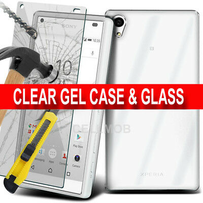 AU6.23 • Buy Luxury Ultra Slim Shockproof Silicone Clear Case Cover For Sony Xperia Models