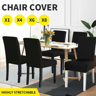 AU22.99 • Buy Dining Chair Covers Stretch Banquet Seat Cover Living Room Slipcover Protector